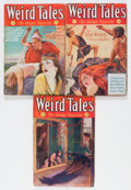 Pulps:Horror, Weird Tales Group (Popular Fiction, 1932) Condition: VG- except asnoted.... (Total: 3 Items)