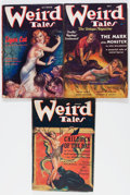 Pulps:Horror, Weird Tales H. P. Lovecraft Group (Popular Fiction, 1937)Condition: Average VG.... (Total: 3 Items)