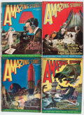 Pulps:Science Fiction, Amazing Stories Group (Ziff-Davis, 1927) Condition: AverageGD/VG.... (Total: 9 Items)