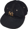 Baseball Collectibles:Hats, Early to Mid-1930's Lou Gehrig Game Worn New York Yankees Cap....