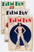 Magazines:Miscellaneous, Film Fun Group (Film Fun Publishing Co., 1926-34) Condition:Average VG-.... (Total: 9 Item)