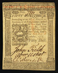 Colonial Notes:Pennsylvania, Pennsylvania October 1, 1773 50s Extremely Fine-AboutUncirculated.. ...