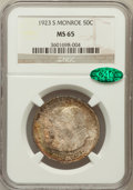 Commemorative Silver, 1923-S 50C Monroe MS65 NGC. CAC....