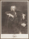 Fine Art - Work on Paper:Print, ARTHUR POND (British, 1695-1758). Behold the Man, Who, When a Gloomy Band, O Rare BEN BRADLY!, 1737. Mezzotint. 25 x 20 ...