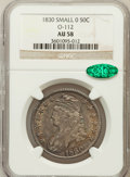 Bust Half Dollars: , 1830 50C Small 0 AU58 NGC. CAC. O-112. NGC Census: (397/454). PCGSPopulation (217/311). Mintage: 4,764,800. Numismedia Ws...