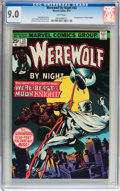 Bronze Age (1970-1979):Horror, Werewolf by Night #33 (Marvel, 1975) CGC VF/NM 9.0 White pages....