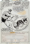 Original Comic Art:Splash Pages, Don Perlin Mighty Marvel Flying Shield Ad IllustrationOriginal Art (Marvel, c. 1979)....