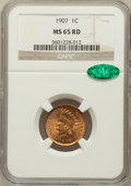 Indian Cents: , 1907 1C MS65 Red NGC. CAC. NGC Census: (188/28). PCGS Population(190/35). Mintage: 108,138,616. Numismedia Wsl. Price for ...