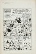 """Original Comic Art:Complete Story, Bill Draut Unearthly Spectaculars #5 Complete 5-Page UnpublishedJack Quick-Frost Story Chapter, """"Who Shrank the Sphinx?"""" Orig..."""