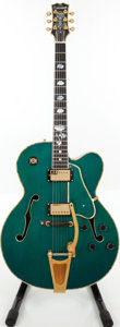 Musical Instruments:Electric Guitars, 1999 Samick Artist HJ-650TR Teal Archtop Electric Guitar, Serial #S99064770....
