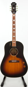 Musical Instruments:Acoustic Guitars, 2000s Epiphone EJ-160E John Lennon Sunburst Acoustic ElectricGuitar, Serial # 1003171696...
