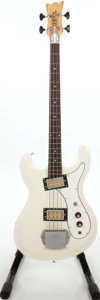 Musical Instruments:Bass Guitars, 1970s Univox Hi-Flyer White Electric Bass Guitar, Serial # 1025888. ...