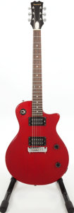Musical Instruments:Electric Guitars, 1980s Samick LS Series Les Paul Copy Red Solid Body ElectricGuitar....