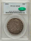 Bust Half Dollars: , 1826 50C XF40 PCGS. CAC. PCGS Population (183/1381). NGC Census:(62/1278). Mintage: 4,000,000. Numismedia Wsl. Price for p...