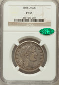 Barber Half Dollars: , 1898-O 50C VF35 NGC. CAC. NGC Census: (1/57). PCGS Population(8/102). Mintage: 874,000. Numismedia Wsl. Price for problem ...