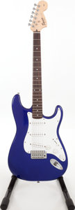 Musical Instruments:Electric Guitars, 2004 Fender Squire Stratocaster Electric Blue Solid Body ElectricGuitar, Serial # IC041210598. ...
