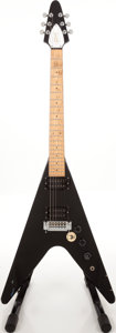 Musical Instruments:Electric Guitars, 1980s Gibson Flying V Copy Black Solid Body Electric Guitar, Serial# A25001....