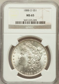 Morgan Dollars: , 1888-O $1 MS65 NGC. NGC Census: (1322/41). PCGS Population(1720/203). Mintage: 12,150,000. Numismedia Wsl. Price for probl...