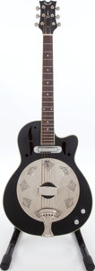 Musical Instruments:Resonator Guitars, 2000s Dean Black Electric Resonator Guitar. ...