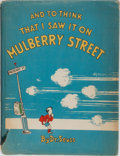 Books:Children's Books, Dr. Seuss. And to Think That I Saw It On Mulberry Street.Vanguard, 1937. Seventh printing. Boards bowed with mi...