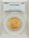 Liberty Eagles: , 1888-S $10 MS63 PCGS. PCGS Population (131/3). NGC Census: (78/6).Mintage: 648,700. Numismedia Wsl. Price for problem free...