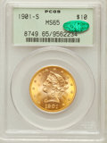 Liberty Eagles: , 1901-S $10 MS65 PCGS. CAC. PCGS Population (940/172). NGC Census:(1222/285). Mintage: 2,812,750. Numismedia Wsl. Price for...