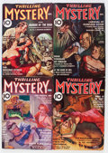 Pulps:Detective, Thrilling Mystery Group (Standard, 1937-39) Condition: AverageVG.... (Total: 5 Items)