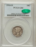 Mercury Dimes: , 1916-D 10C Good 4 PCGS. CAC. PCGS Population (1122/2270). NGCCensus: (391/898). Mintage: 264,000. Numismedia Wsl. Price fo...