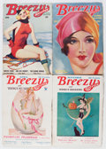 Pulps:Romance, Breezy Stories Group (Young, 1933-36) Condition: Average FN-.... (Total: 5 Items)