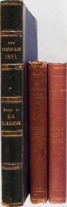 Books:Art & Architecture, [Books About Books]. Group of Three Volumes of The Portfolio, All with Articles Related to Books. 1893,1894,... (Total: 3 Items)