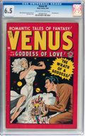Golden Age (1938-1955):Romance, Venus #6 (Timely, 1949) CGC FN+ 6.5 Cream to off-white pages....