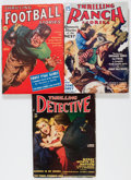 Pulps:Detective, Thrilling Pulp Group (Better Publications, 1933-47) Condition:Average VG+.... (Total: 3 Items)