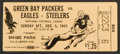 Football Collectibles:Tickets, 1943 Green Bay Packers Vs. Pittsburgh/Philadelphia Steagles Ticket Stub....
