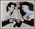 Baseball Collectibles:Photos, Mickey Mantle and Billy Martin Multi Signed Photograph....