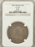 Early Half Dollars: , 1807 50C Draped Bust Fine 15 NGC. O-105. NGC Census: (51/1465).PCGS Population (114/920). Mintage: 301,076. Numismedia Ws...