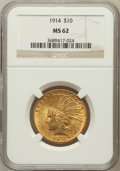 Indian Eagles: , 1914 $10 MS62 NGC. NGC Census: (694/473). PCGS Population(645/568). Mintage: 151,050. Numismedia Wsl. Price for problemfr...