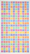 Fine Art - Work on Paper:Print, AN ABSTRACT MATRIX . 20th century. Lithograph. 71-1/4 x 40 inches (181.0 x 101.6 cm). The Elton M. Hyder, Jr. Charitable a...