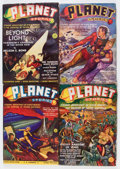 Pulps:Science Fiction, Planet Stories Group (Fiction House, 1939-43) Condition: AverageVG+.... (Total: 7 Comic Books)