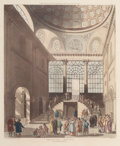 Fine Art - Work on Paper:Print, AUGUSTUS CHARLES PUGIN (French, 1762-1832). Session House, Clerkenwell , June 1, 1809. Engraving by Rowlandson and aquat...
