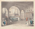 Fine Art - Work on Paper:Print, AUGUSTUS CHARLES PUGIN (French, 1762-1832). Doctors Commons, August 1, 1808. Engraving and aquatint. 9 x 11 inches (22.9...