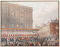 Fine Art - Work on Paper:Print, SCENE OF STATE CEREMONY. 19th century. Color lithograph. 14 x 17 inches (35.6 x 43.2 cm). The Elton M. Hyder, Jr. Charitab...