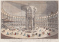 Fine Art - Work on Paper:Print, THOMAS BOWLES (British, b. 1712). The Inside View of the Rotunda in the Ranelagh Gardens at Breakfast, 1754. Hand-colore...