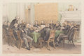 Fine Art - Work on Paper:Print, THÉOBALD CHARTRAN (French, 1849-1907). The Cabinet Council, July 7, 1883. Color lithograph. 20-1/2 x 24-1/2 inches (52.1...