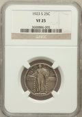 Standing Liberty Quarters: , 1923-S 25C VF25 NGC. NGC Census: (23/382). PCGS Population(43/791). Mintage: 1,360,000. Numismedia Wsl. Price for problem ...