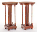 Furniture , A PAIR OF AMERICAN OAK TABLES . Circa 1900. 30-1/4 inches high x 18 inches diameter (76.8 x 45.7 cm). FROM THE EDMUND P. P... (Total: 2 Items)