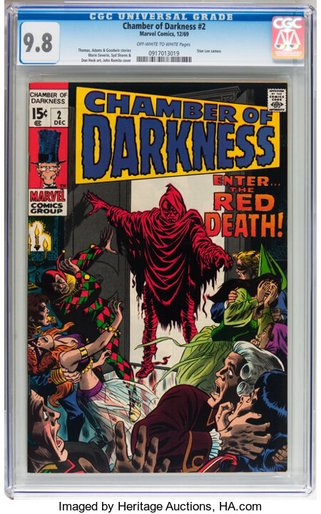 Chamber of Darkness #2 (Marvel, 1969) CGC NM/MT 9.8 Off-white to white pages....