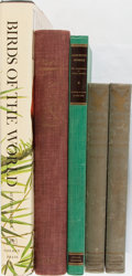 Books:Natural History Books & Prints, [Illustrated Natural History Books]. Audubon and Others. Group of Four Titles in Five Volumes. All lacking djs. Very good....