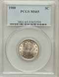 Liberty Nickels: , 1900 5C MS65 PCGS. PCGS Population (149/47). NGC Census: (160/42).Mintage: 27,255,996. Numismedia Wsl. Price for problem f...