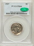 Proof Buffalo Nickels: , 1937 5C PR66 PCGS. CAC. PCGS Population (766/447). NGC Census:(484/358). Mintage: 5,769. Numismedia Wsl. Price for problem...