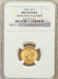 Liberty Quarter Eagles: , 1906 $2 1/2 -- Improperly Cleaned -- NGC Details. Unc. NGC Census:(31/4824). PCGS Population (105/4586). Mintage: 176,300....